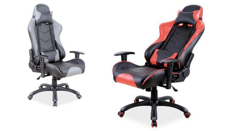 Gamingowe fotele biurowe Q-109 posiadają dwie miękkie poduszki zwiększające komfort użytkowania oraz możliwość zablokowania oparcia w dowolnej pozycji.