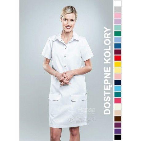 Sukienka Medyczna Hansa 0209 | Odzież damska | Dla lekarzy, farmaceutek i pielęgniarek. | Sklep internetowy Dersa |