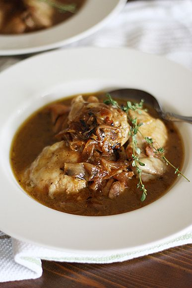 French Onion Chicken with Gruyere Court says: Yummy! So not diet ...