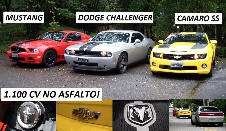 Wow ! :-O Garagem do Bellote TV: Mustang, Dodge Challenger SRT8 e Camaro SS (T2A C...