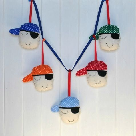Sleeping Pirates garland available at www.madeit.com.au/WitchingHourBags