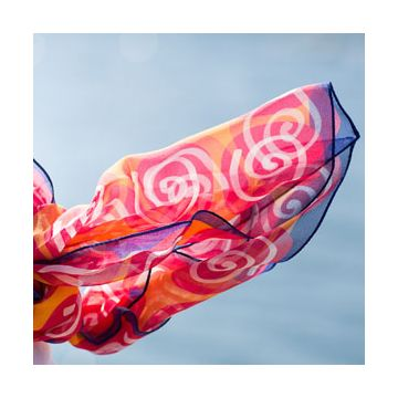 Tröskö Design limited edition silk scarves, made in the US