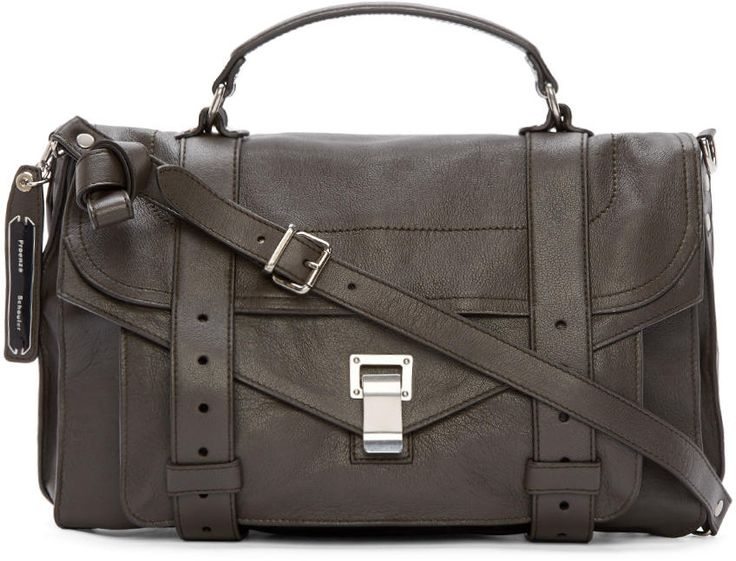 Proenza Schouler Dark Grey Medium PS1 Bag