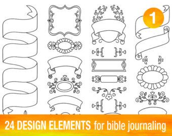 56 PRINTABLE TEMPLATES for bible journaling by BibleVerseColoring