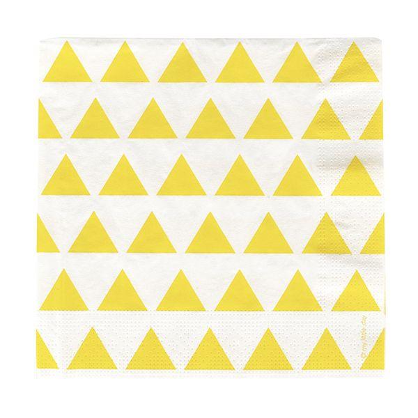 Servetten Gele Driehoekjes