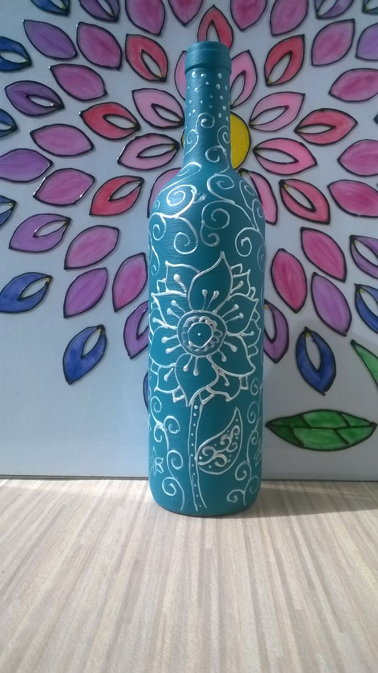 Handpainted two-colored flower