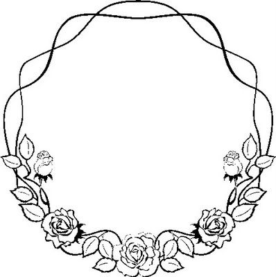 rose garland coloring pages - photo#23