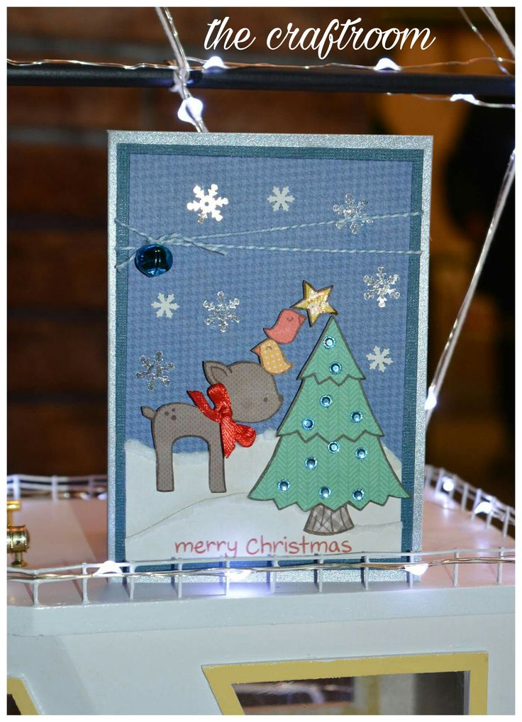 Lawn fawn merry christmas card handmade by the craftroom