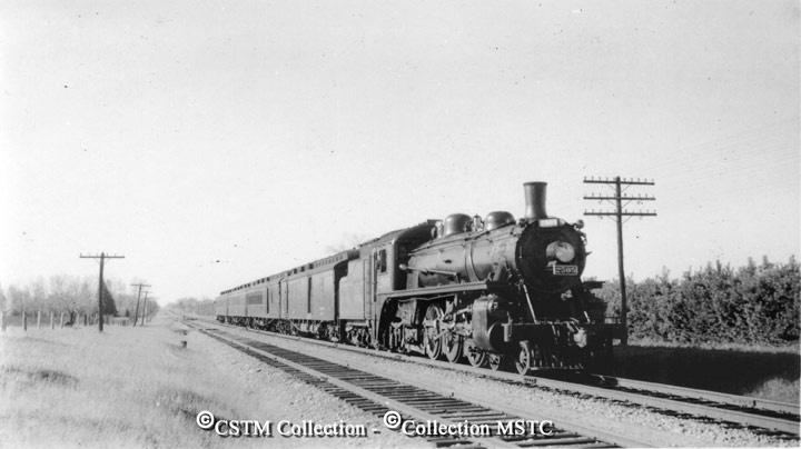 Pembroke local train to Ottawa. Stittsville October 1939