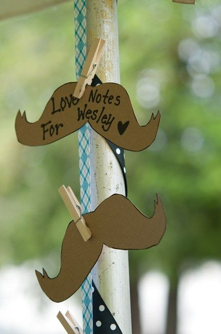 Cute take on the wish tree at a baby shower - love notes for a little man