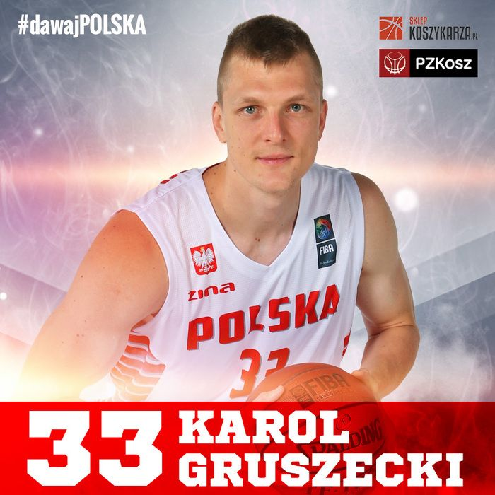 Karol Gruszecki (#33) - rzucający obrońca / niski skrzydłowy  Reprezentant Polski w Koszykówce