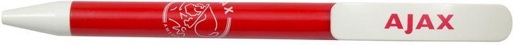 Balpen in de thuiskleuren van je favoriete club Ajax Amsterdam. De pen schrijft blauw en is natuurlijk voorzien van het orginele Ajax logo.   Afmeting: volgt later.. - Pen ajax rood/wit