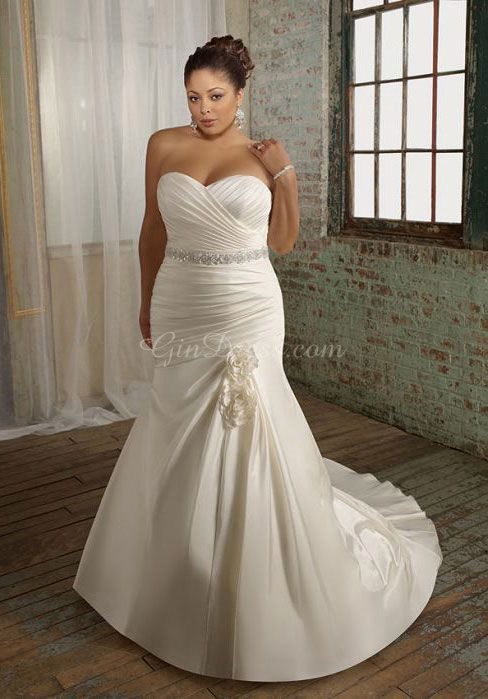 Plus Size Wedding Dresses. Some beautiful bride would look extravagantly radiant in this dress.