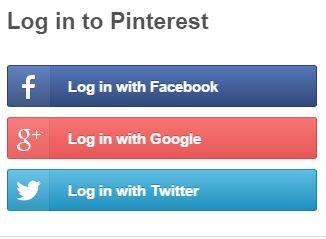 Image result for pinterest login with facebook