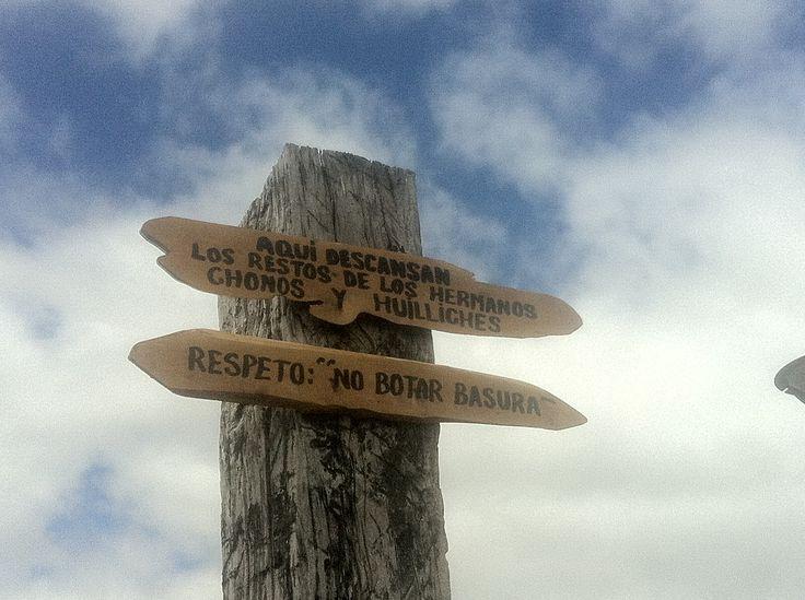 Hermanos Chonos y Huilliches. Punta del viento en Ten Ten. Isla Grande de Chiloé.