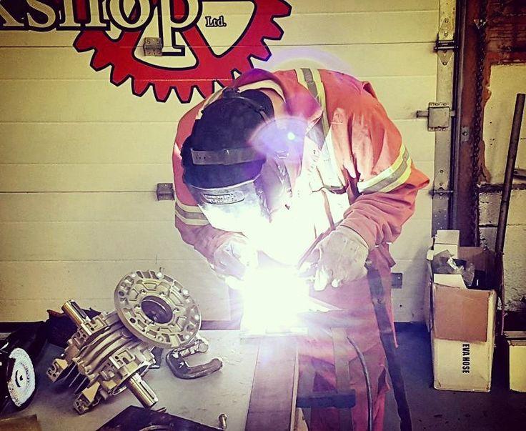 Tony running in the TIG welder today. . . #tig #mig #welder #steel #makerspace #membership #makersgonnamake #makers #maker #creative #creativespace #business #electrode #wire #tigwelding #welding #brant #brantfordontario #brantford