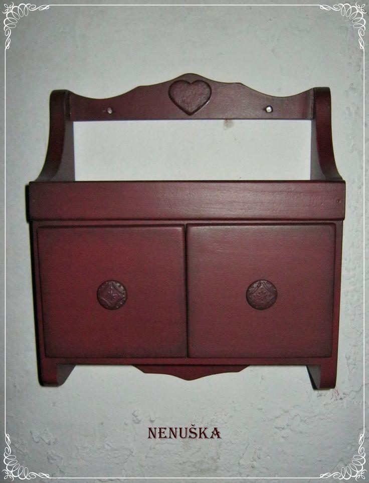 Small wooden kitchen shelf