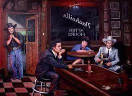 Foto: Ein Bier, ein Bourbon und Country Musik.