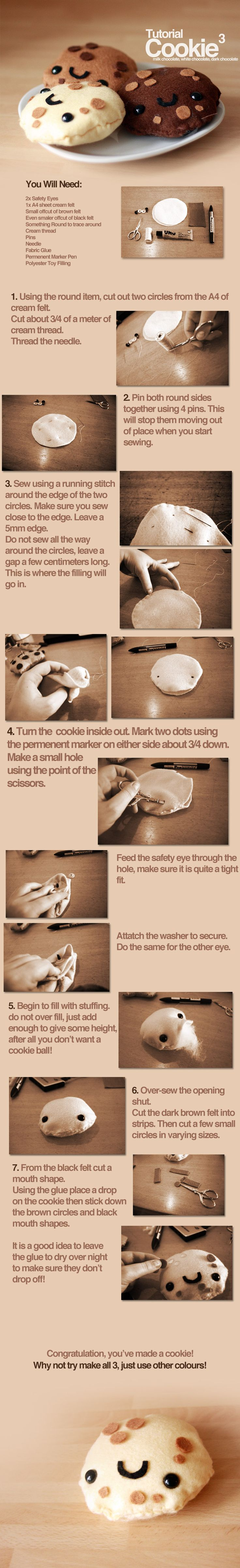 .:cookie plushie tutorial:. by For-Certain.deviantart.com on @deviantART
