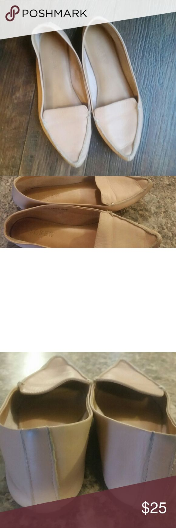 J Crew womens flat leather shoes Nude 7.5 J crew flats leather shoes  Soft leather   7.5 J. Crew Shoes Flats & Loafers