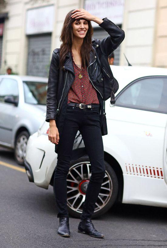 Ruby Aldridge, Milan Leather