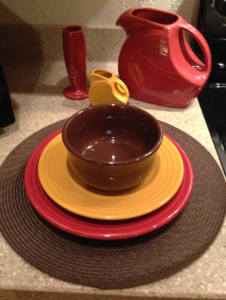 Fiesta in Marigold Chocolate and Paprika & 21 best Fiesta in Fall images on Pinterest | Dinner ware Homer ...