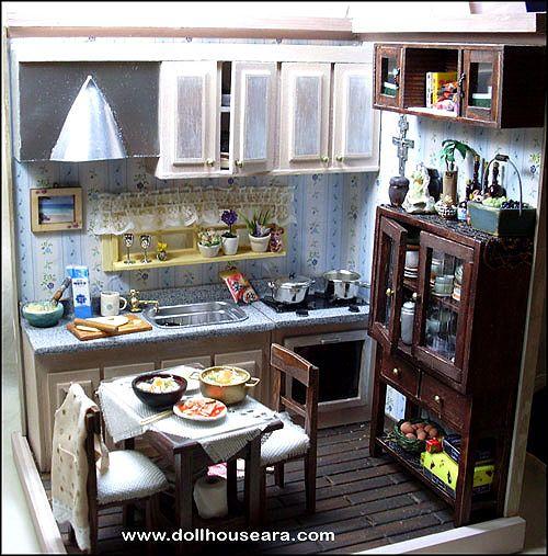 Miniature Kitchen: 207 Best Dollhouse Kitchen & Nook Ideas Images On
