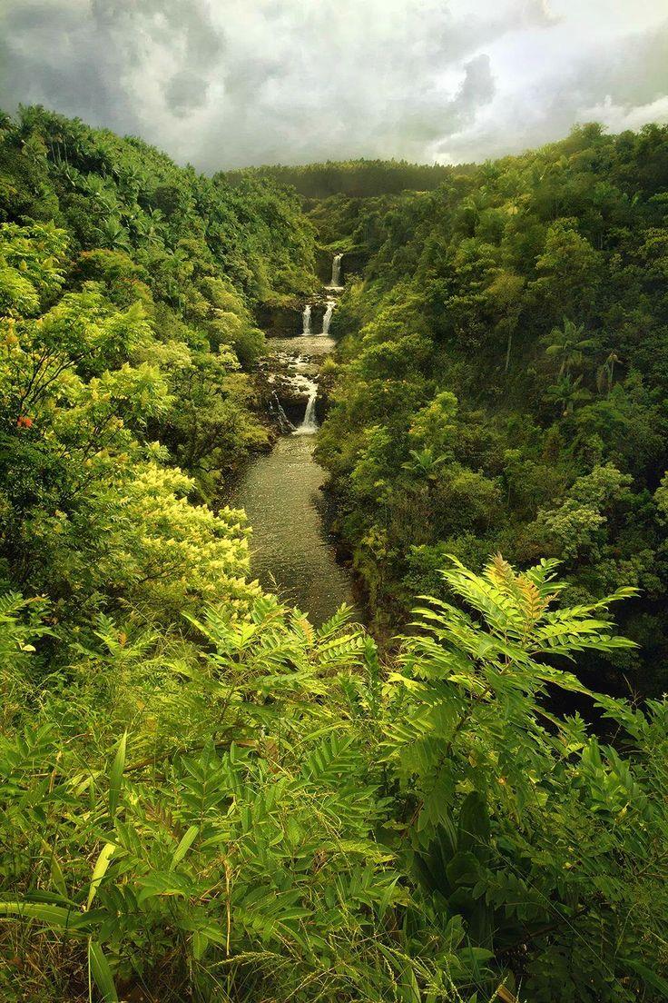 Triple Waterfall On The Big Island Hawaii Mother Nature Pinterest The O Jays Waterfalls