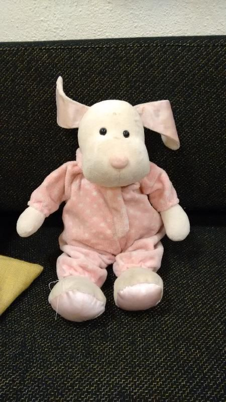 Found on 18/01/2015 @ Tromsø, Norway. Found at the Arctic Cathedral in Tromsø, Norway a few weeks ago, probably lost by a cruise tourist. Pink/white dog(?) wearing a pink jumper with white dots. Visit: https://whiteboomerang.com/lostteddy/msg/z9brba (Posted by Bernhard on 18/01/2015)