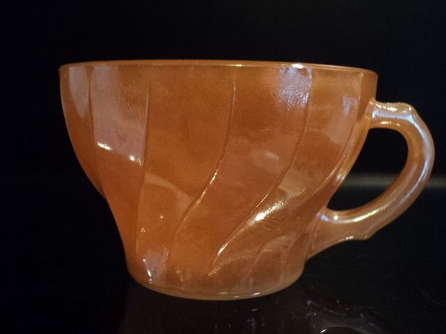 Vintage FIRE KING VTG DEMITASSE CUP PEACH LUSTER DINNER WARE 1965-1976