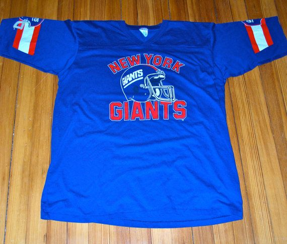 74bb5a759 ... Vintage New York Giants V-Neck Jersey T-Shirt ...
