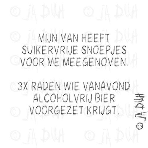 Suikervrij vs alcoholvrij. Door ©Ja Duh #Humor #man #vrouw #huwelijk