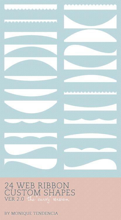 25 Amazing Swirl & Ribbon Photoshop Brushes