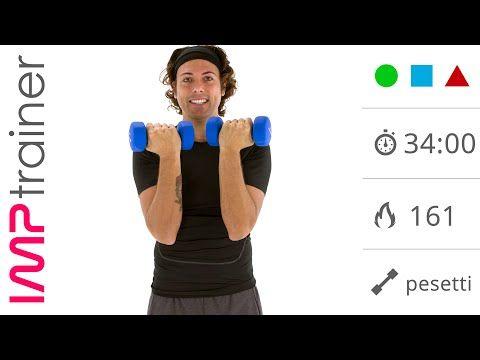 Allenamento Intenso con I Pesi Per Donne (braccia, spalle e tronco) - YouTube