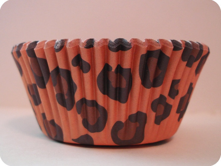 50 Cheetah Print Cupcake Liners Animal Print Safari Baking Cups. $3.50, via Etsy.