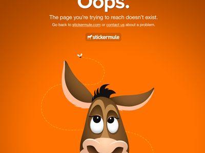 404 by Sticker Mule