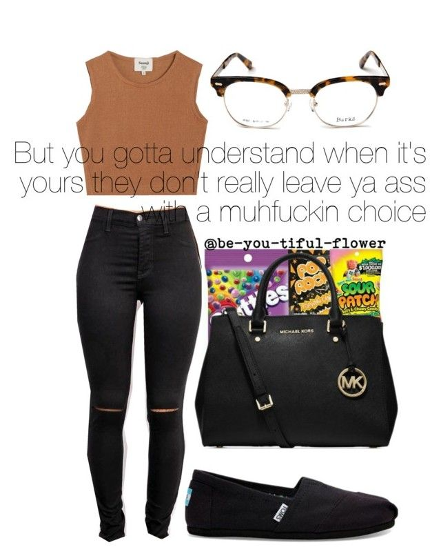 """•Wu-Tang Forever•"" by clutxhcash ❤ liked on Polyvore featuring Samuji, TOMS and Michael Kors"
