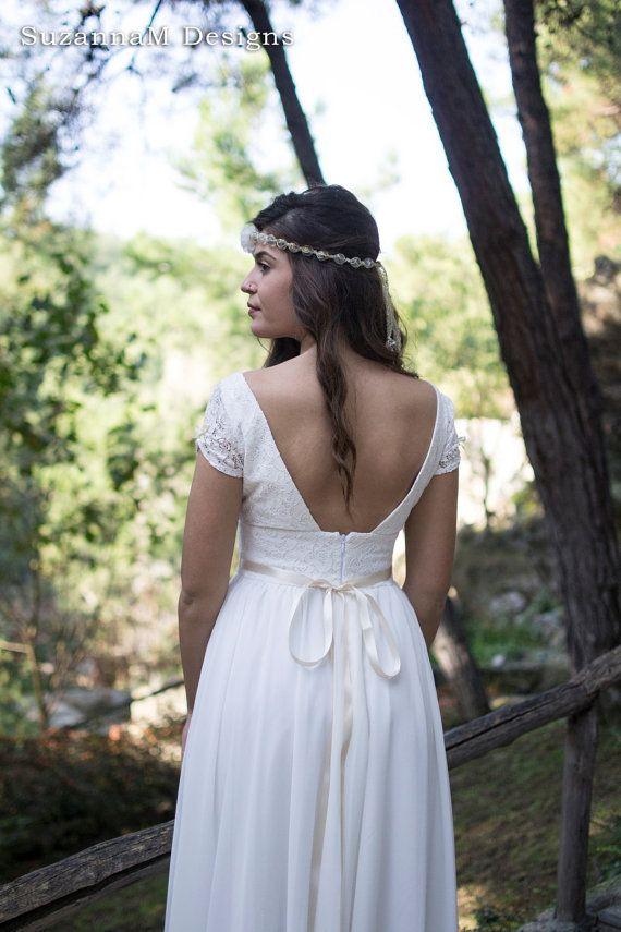 Ivory 50s Wedding Dress Full Skirt Bridal Dress by SuzannaMDesigns