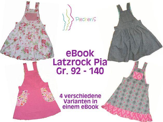 """Der Latzrock """"Pia"""" ist ein vielseitiges Kleidungsstück, das je nach Stoffwahl romantisch, verspielt, festlich aber auch sportlich oder leger daherkommt. Der Latz bietet viel Platz..."""
