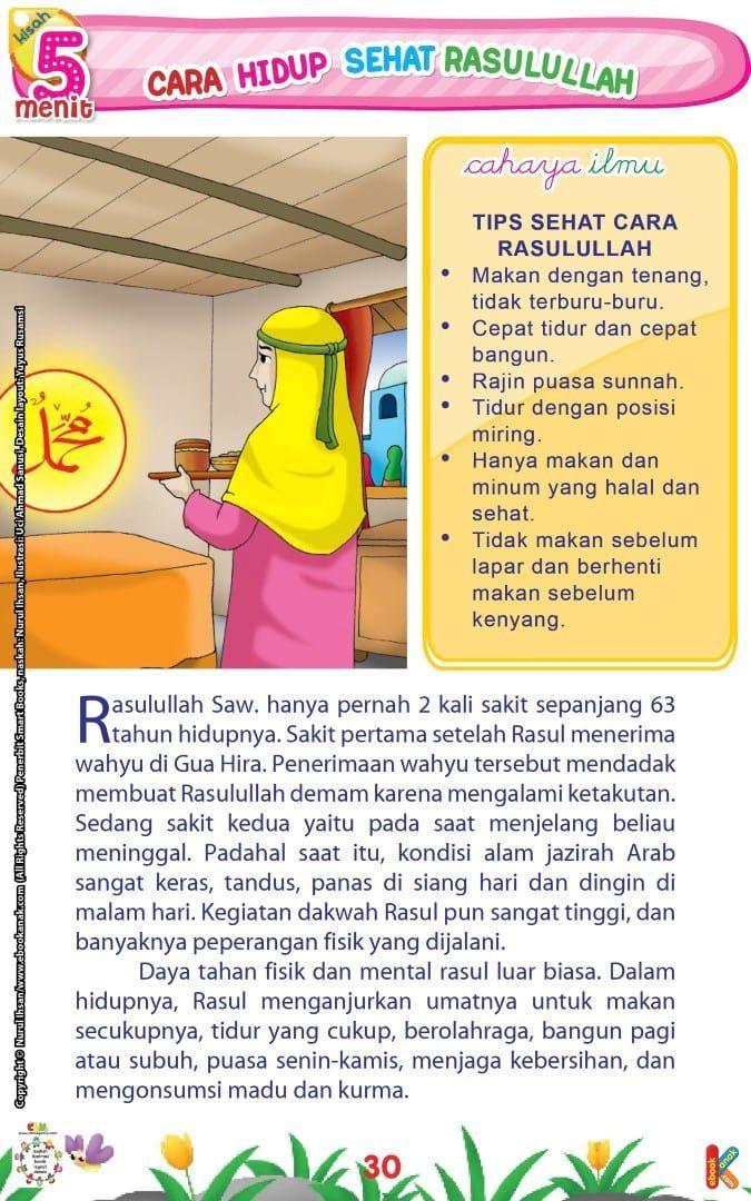 Cara hidup sehat Rasulullah Kids story books, History of