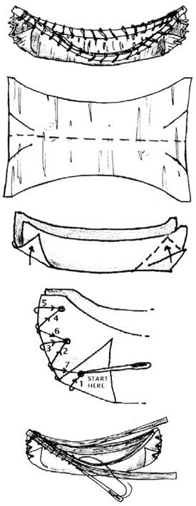 Native American - Canoe Craft  (Use cardstock instead of bark.  Follow comparison of cultural differences - specifically travel/gathering food.)