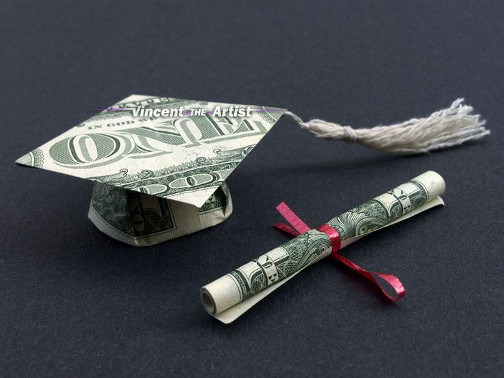 Details about Money Origami GRADUATION GIFT Diploma Scroll Dollar Bill Cash Morterboard Tassel