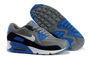 Nike Air Max 90 Mens Grey/White-Black-Photo Blue Shoes