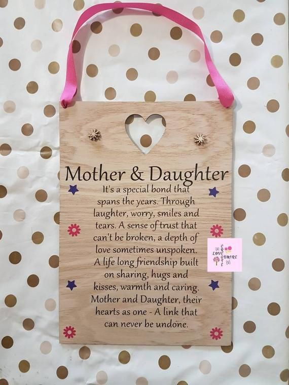 Mother And Daughter Mom Gift Mothers Day For Mum Of The Bride Groom Birthday Ideas