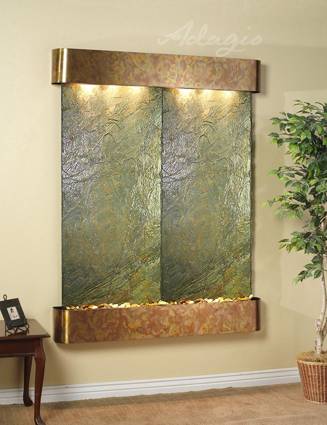 water wall hanging wal | Wall Water Features, Hanging Water Fountains, and Wall Mounted Water ...