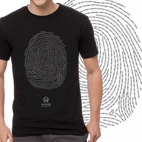 Hacker House: Security startup needs cool T SHIRTS! Design by Deanna Blake