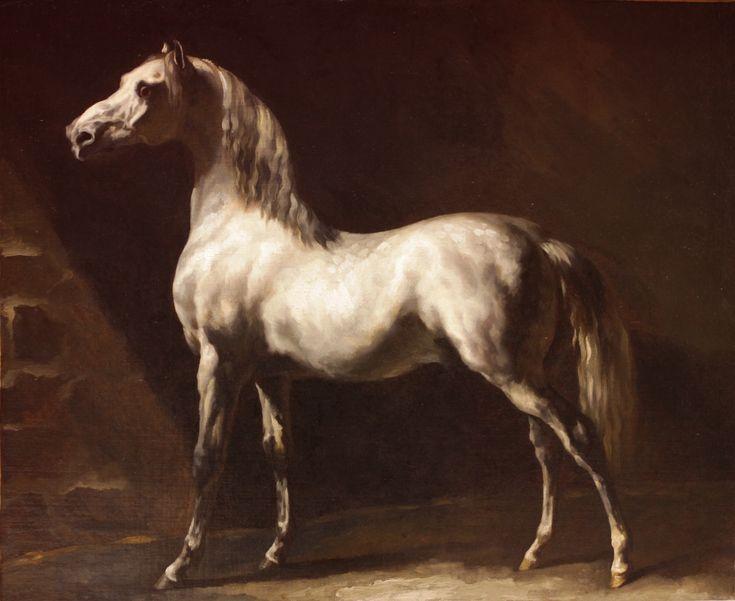 Theodore Gericault-Study of a Dapple Grey