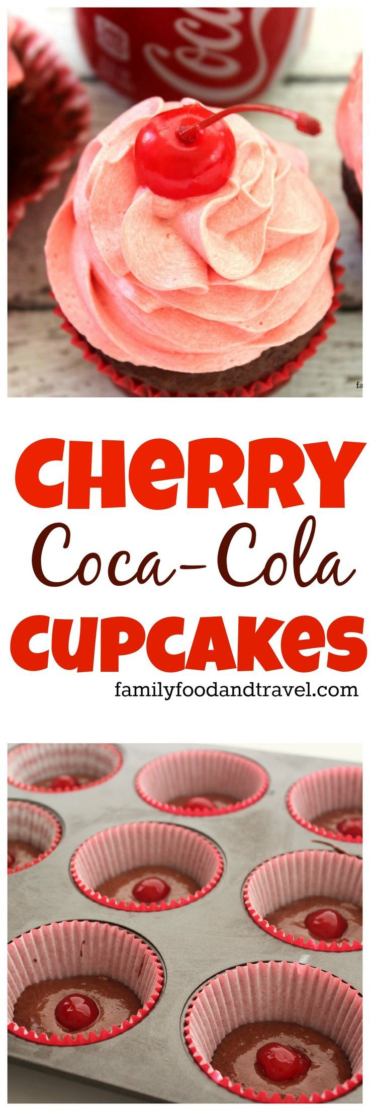 Cherry Coke Cupcakes are filled with all the flavours you love in Cherry Coke and are easy to make. Just grab a box mix and some fun add ins.
