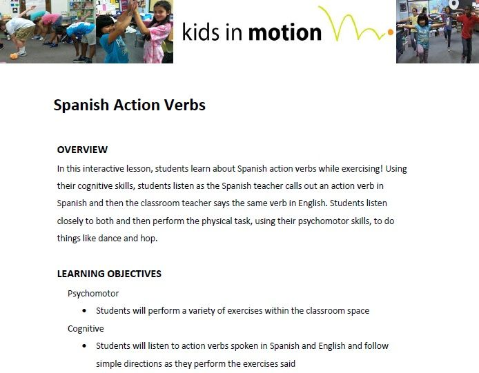 In this interactive lesson, students learn about Spanish action - action verbs