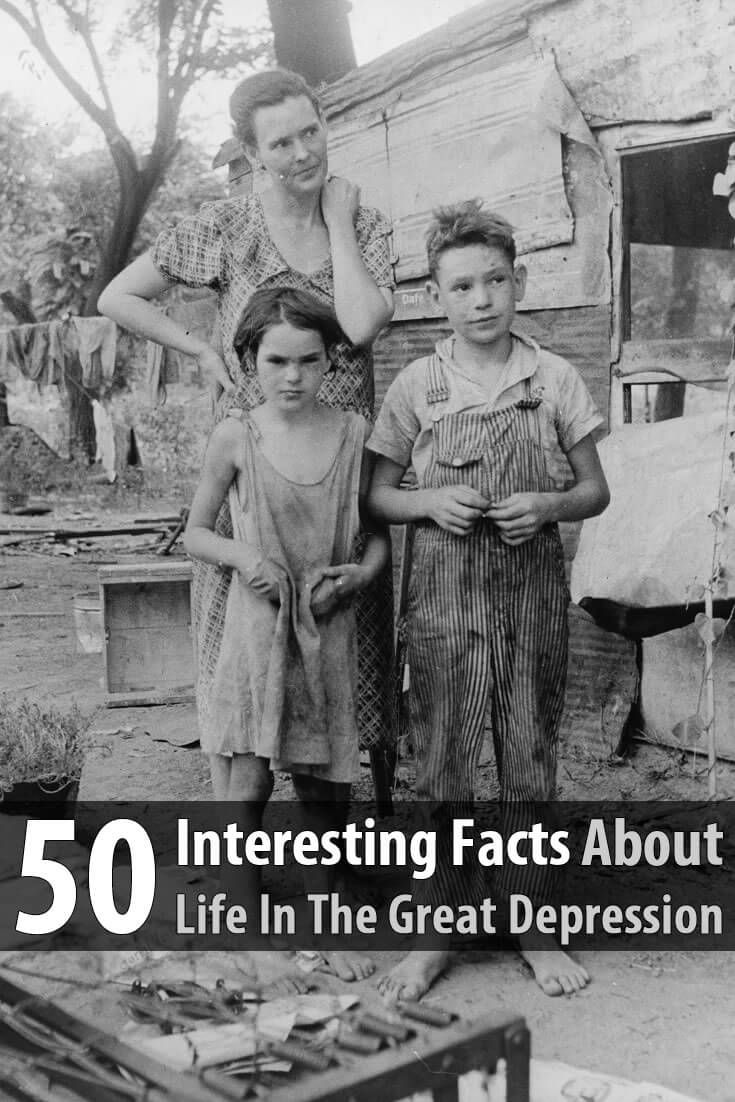 In this article, the author lists 50 interesting facts about life in the Great Depression. This information will be very useful in the coming years.